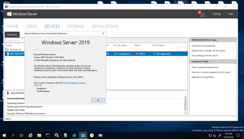 Win server 2019 Essentials
